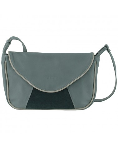 Leather Bag Lisa green grey by Lea Toni