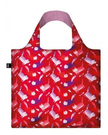Foldable shopping bag STEPHEN CHEETHAM Cats LOQI