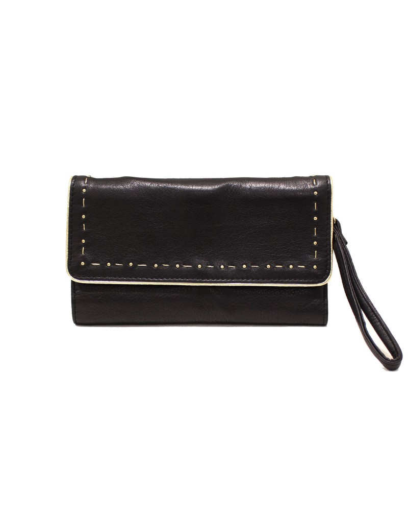 Leather Wallet Panaji Sable - Une A Une