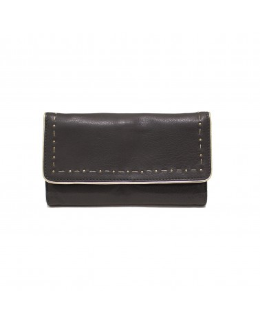 Leather Wallet LIV Black - Une A Une