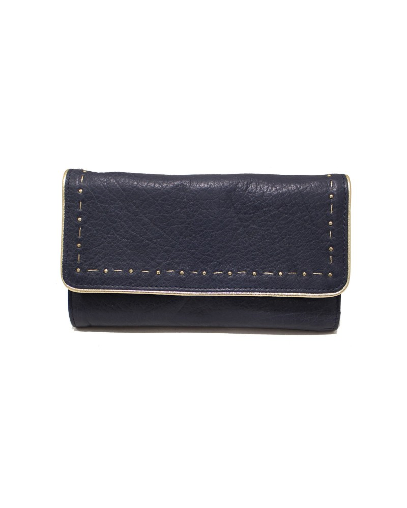 Leather Wallet LIV Grey - Une A Une