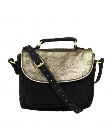 Leather Cross Body Bag Tamarindo Sable - Une A Une