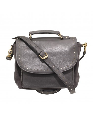 Leather Bag Basta Black by Une a Une