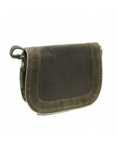 Leather Bag Basta Grey by Une a Une
