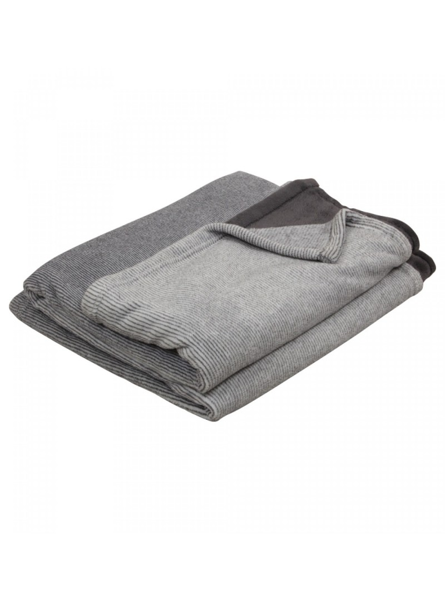Coussin rectangulaire en coton gris motif graphique House Doctor