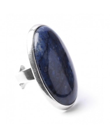BB BLUES Bague dumortiérite ovale Nature bijoux