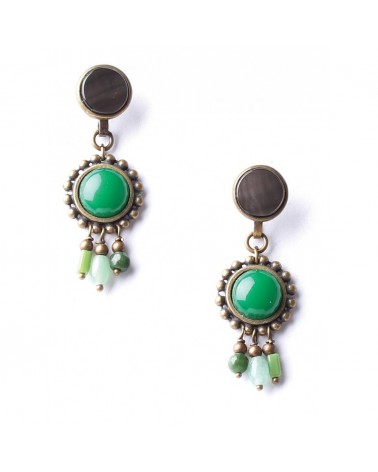 Nature Bijoux - EMERALD Petal crochet Earrings