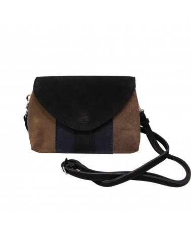 Mila louise - Orly Black Tricolor Leather Pouch Bag