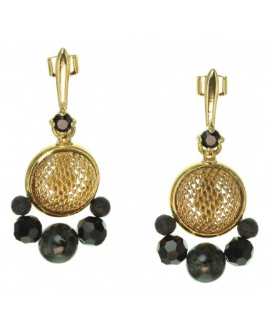 Franck Herval - CLOTILDE Small Earrings with Swaro top