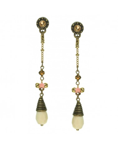 Franck Herval - ELENA Earrings with bone drop