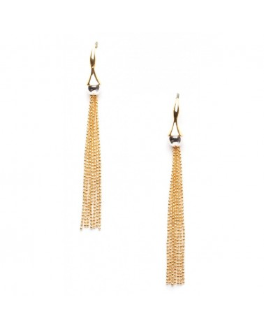 ORI TAO - FANFARE BATUCADA Long Multi-chain Hooks Earrings