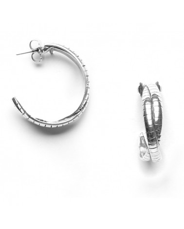 ORI TAO - STUDIO 54 4-row Creoles Earrings