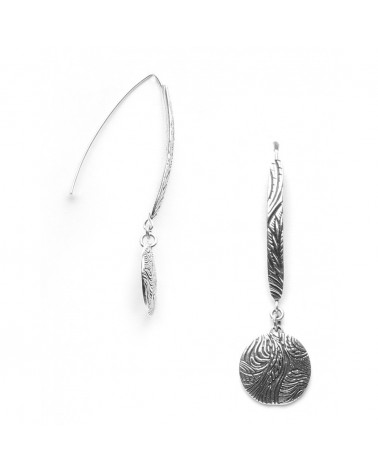 ORI TAO - TOBACCO PRINCESS CLUB 2 Disc Hook Earrings