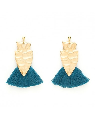 Boucles d'oreilles Alice Bleu abysse - Charly James