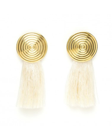 Charly James - Earrings Eleonore White