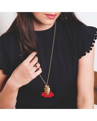 Long collier Sautoir Alice Rouge - Charly James