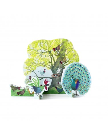 Studio ROOF - Pop-out carte tiny tale, arbre avec poules