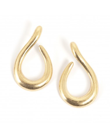 Arts & Crafts - Earrings Post Gold Small Soft Shapes