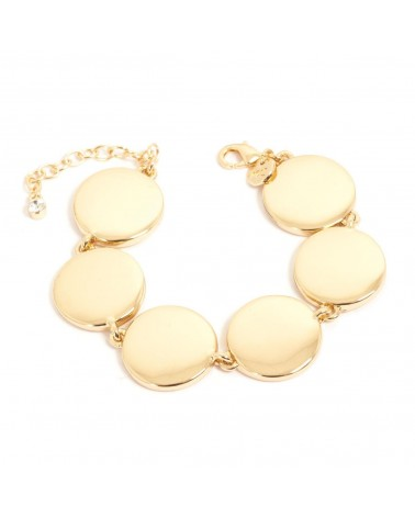Arts & Crafts - Bracelet cuff gold soft shapes