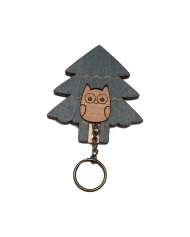 Key House Keyring Owl