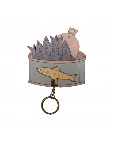 Key House Keyring Sardines Can