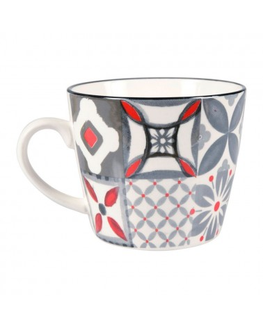 Mug en porcelaine Carreau Rouge SEMA DESIGN