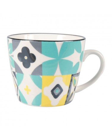 Mug en porcelaine Carreau Ocean SEMA DESIGN
