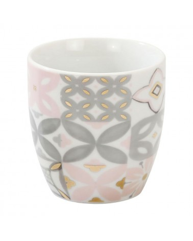 SEMA DESIGN - Porcelain Mug double wall carreau pink
