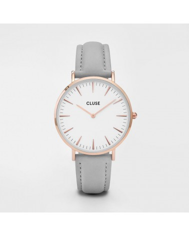 CLUSE - Montre Femme La Bohème Rose Gold White/Grey