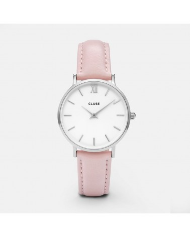 CLUSE - Montre Femme Minuit Silver White/Pink