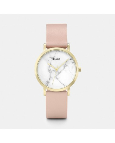 CLUSE - Ladies Watch La Roche Petite Mesh Rose Gold/White Marble