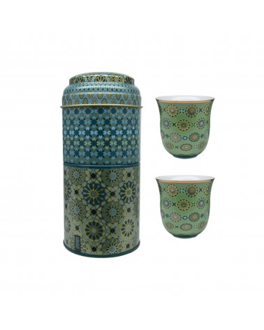 Images d'orient - Tin Box With 2 Coffee Cups Sursock Vitrail