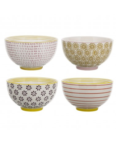 Bloomingville - Multicolor Stoneware Bowl Laura Set of 2