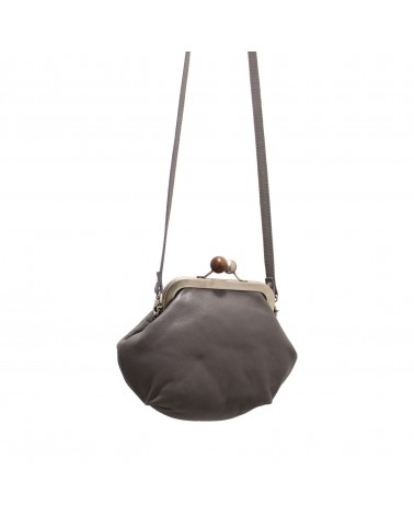 Cyan - MELISSA HANDBAG DREAM LEATHER GREY